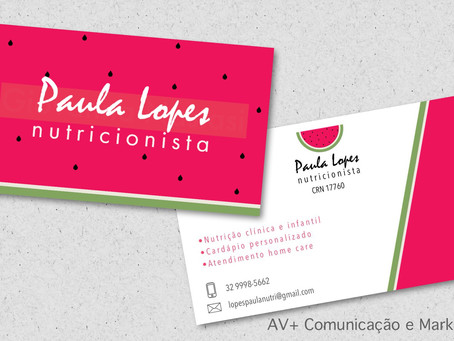 Nutricionista Paula Lopes de SJDR com nova logotipia