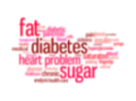 Diabetes sickness info-text graphics and