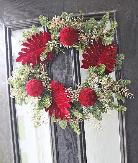 Red Velvet Wreath