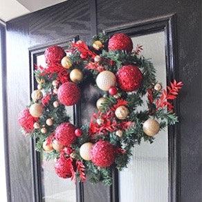 Santa Baby Wreath