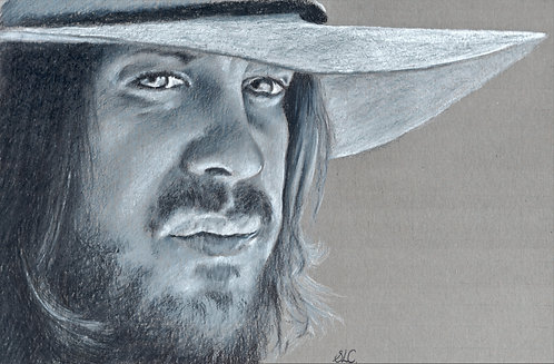 Print of original drawing of of Christian Kane #24 by Sarah Caisey