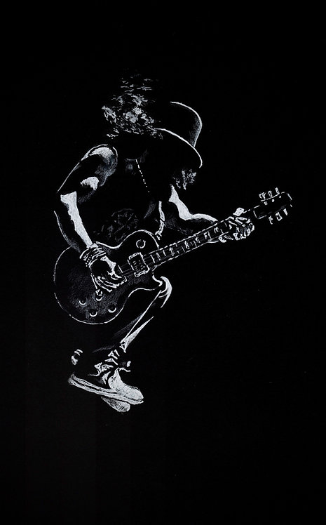 Original pen drawing of Slash from Guns n Roses