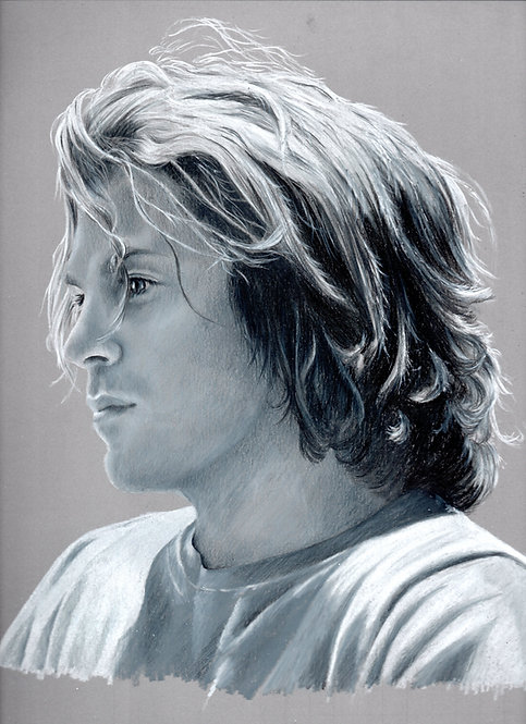 Print of original drawing of Christian Kane in Her Minor Thing