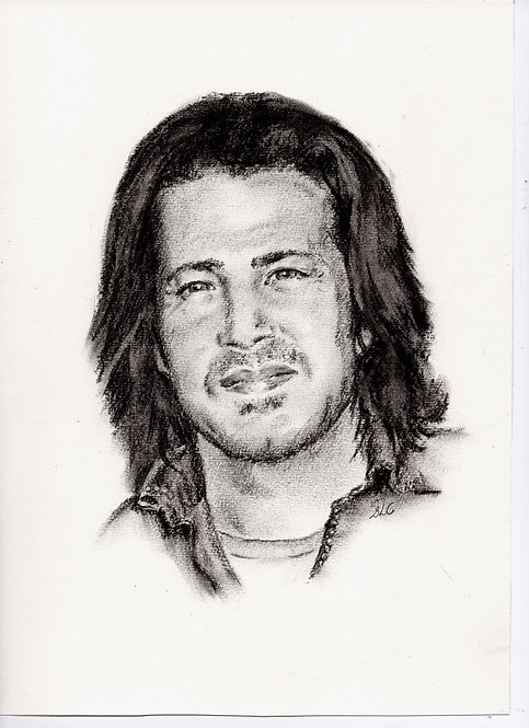 Print of original drawing of Christian Kane #4 by Sarah Caisey
