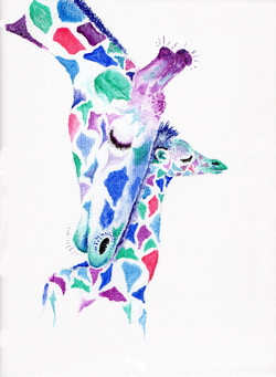 Giraffe and baby #2