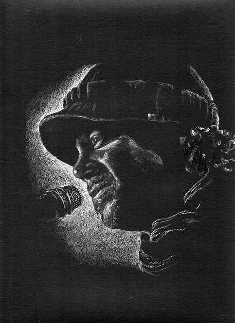 Print of original drawing of Christian Kane #13 by Sarah Caisey