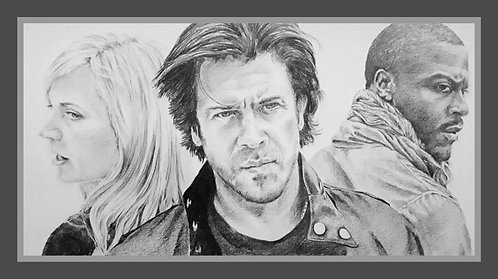Print of an original drawing from the TV show Leverage