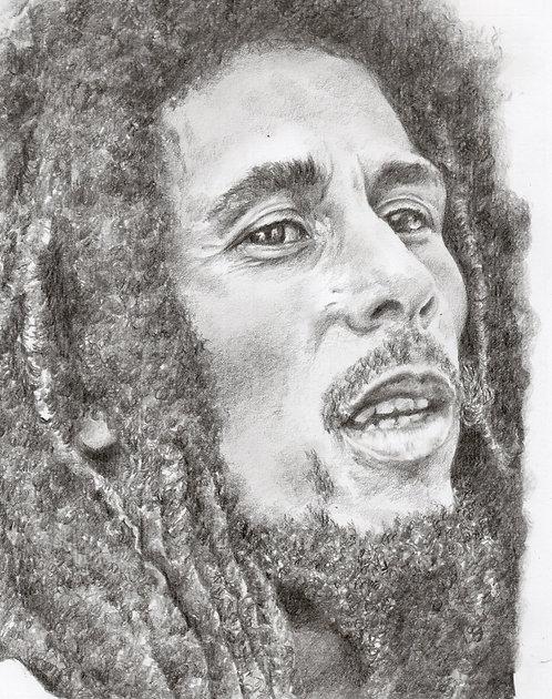 Bob Marley blank card