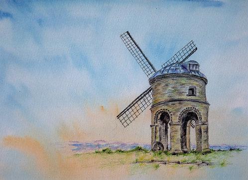 Print of original painting of Chesterton Windmill