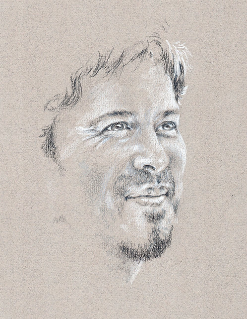 Print of original drawing of Christian Kane #10 by Sarah Caisey