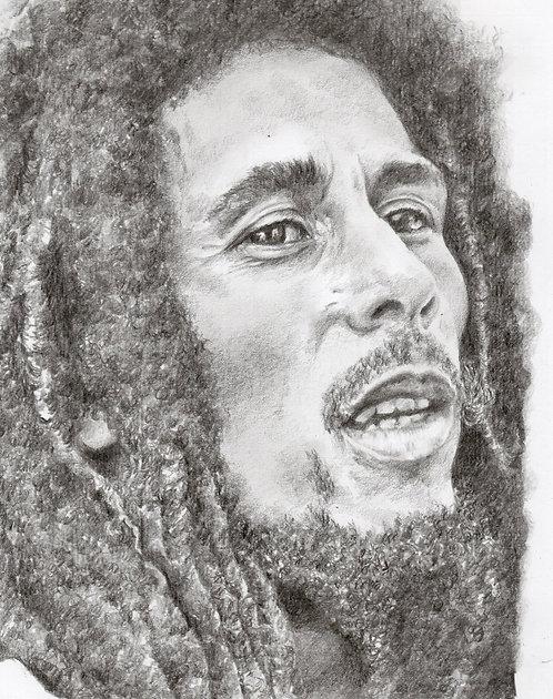 Original drawing of Bob Marley