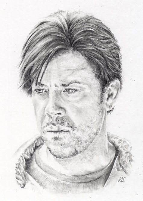 Print of original drawing of Christian Kane#17 by Sarah Caisey