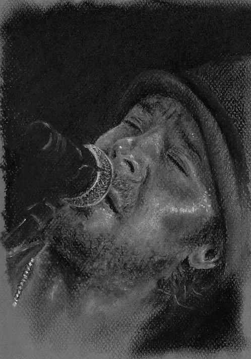 Print of original drawing of Christian Kane #8 by Sarah Caisey