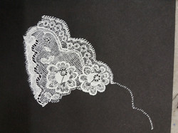 Lace drawing