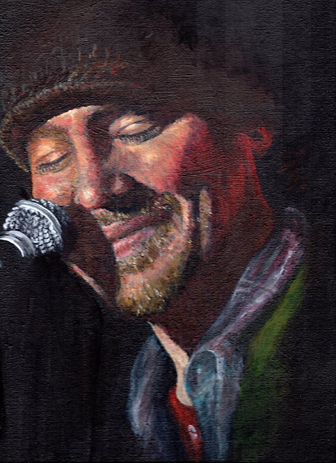 Print of original painting of Christian Kane #16 by Sarah Caisey