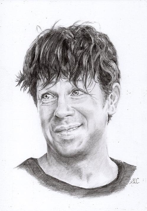 Print of an original drawing of Christian Kane as Alex Walker