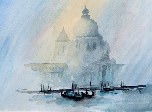 Print of original watercolour of Venice by Sarah Caisey