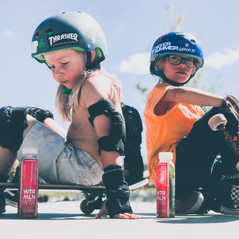 My little brother and I having a photoshoot for WtrMlnWtr. Only the best drink on earth!