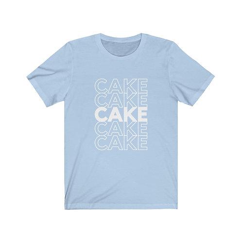 Unisex Jersey Short Sleeve Tee - CAKE CAKE CAKE