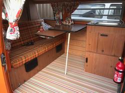 VW Westfalia Camper Van Interior