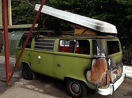 Burnt out camper van