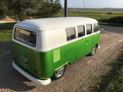 classic vw camper van splitty