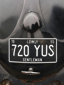 1955 Oval Deluxe Beetle Number Plate