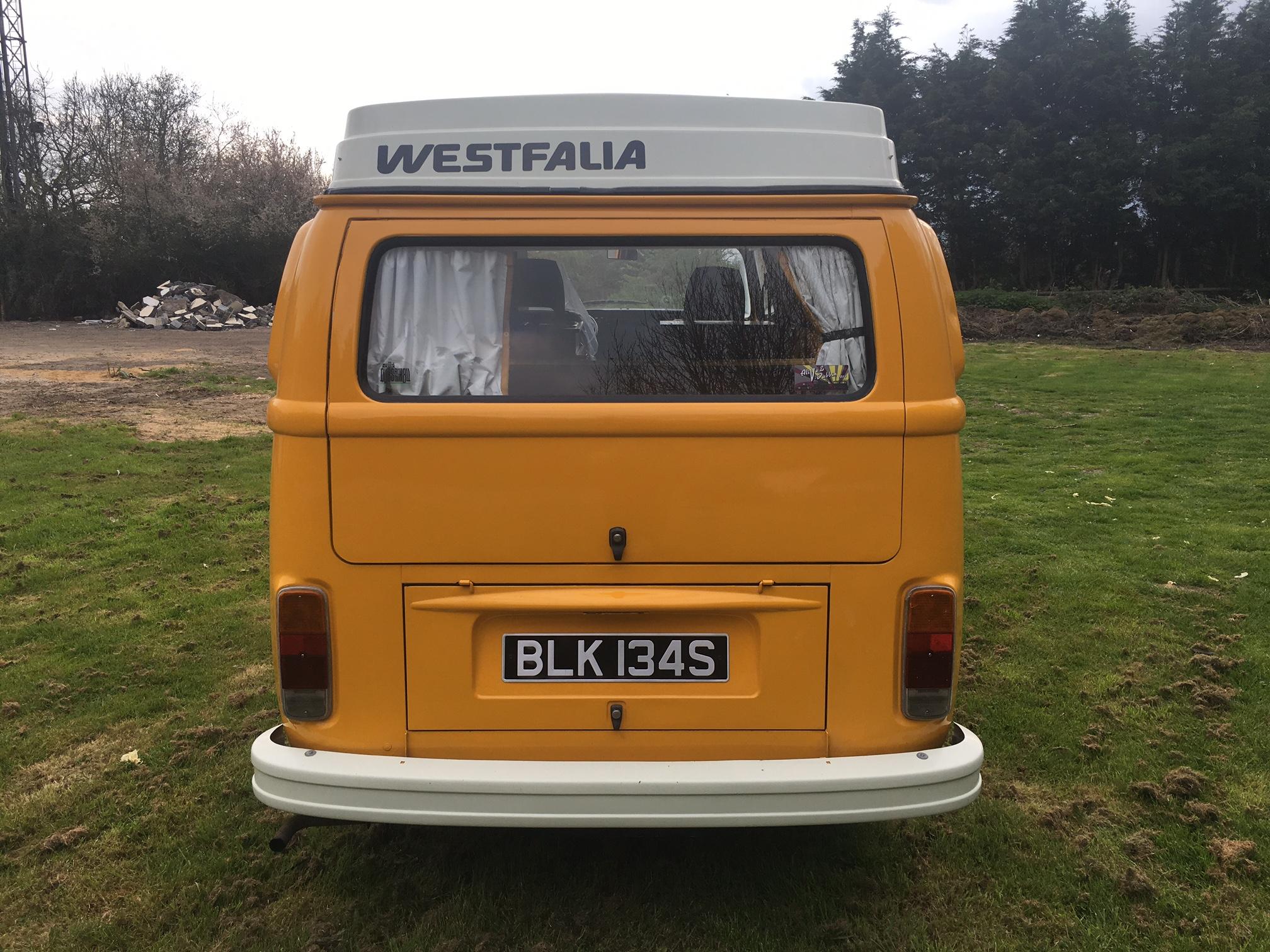 1978 westfalia 4 berth camper van