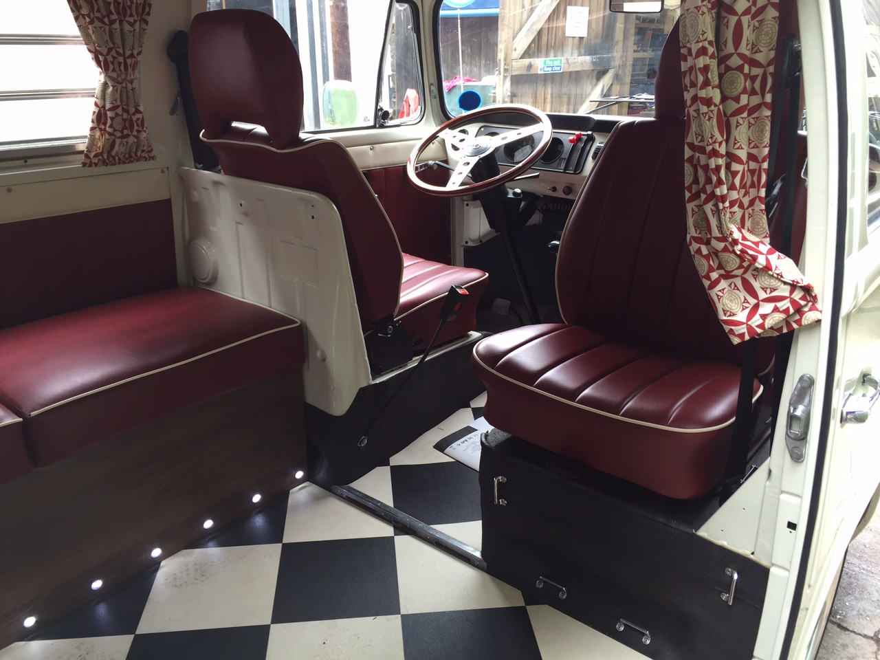 VW Westfalia Camper Van Interior