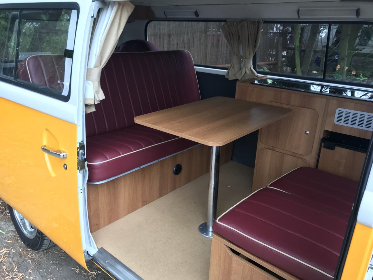 vw camper full width bed