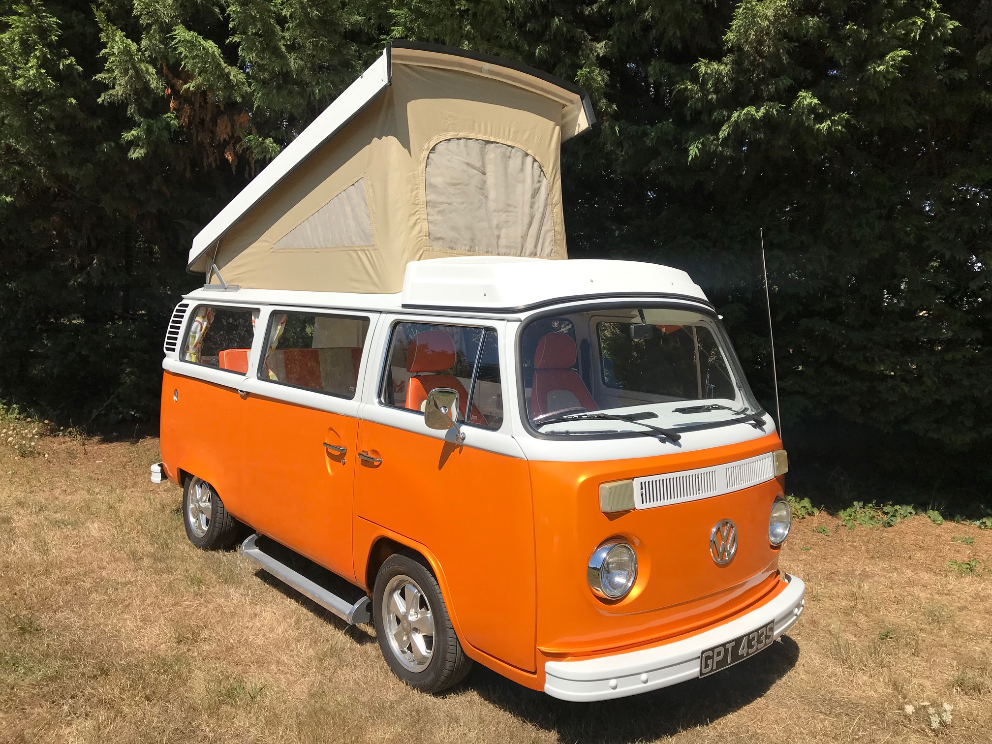 Orange-vw-westy-camper-van-for-sale