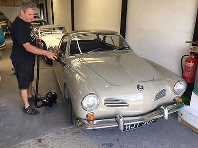 Valeting a Karmann Ghia