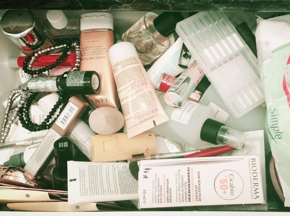 before bathroom drawer