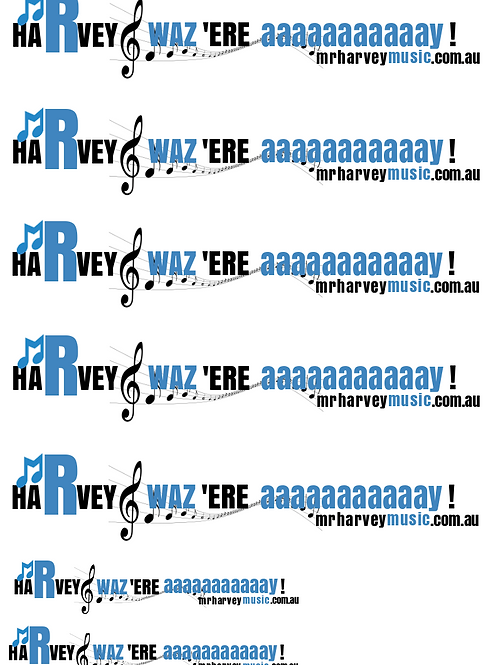 MrHarvey Bumper Stickers