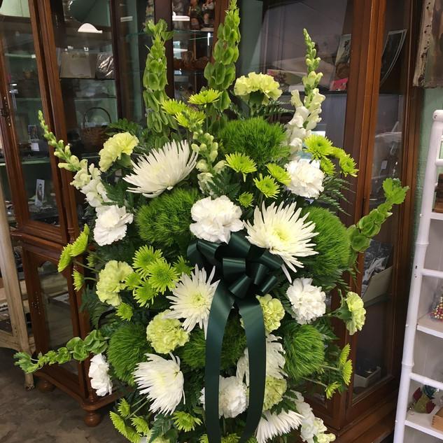 S4- Green & White Spray $175