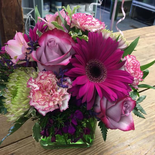 Mothers Day Block Vase