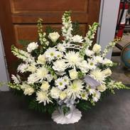 B7-White Basket $175