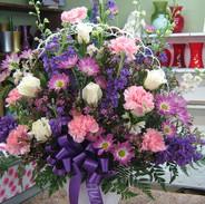 B2-Pink & Purple Basket $145