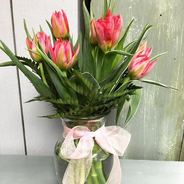 Tulip Vase Arrangment