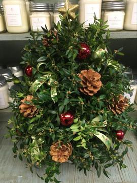 Holly Jolly Boxwood Tree