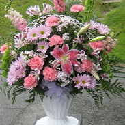 B4-Pink/Lavendar Basket $130