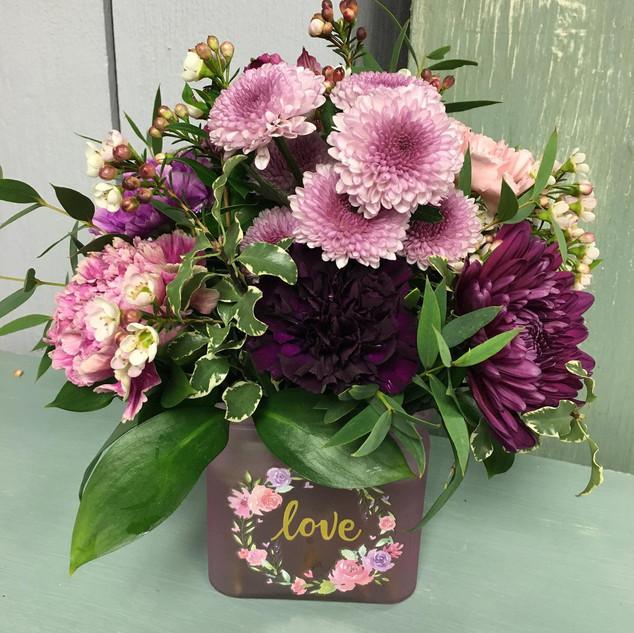 LOVE Block Vase