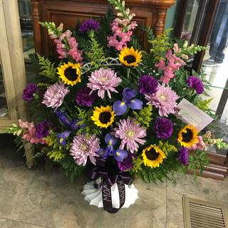 B5-Multicolored Basket $135