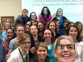 Course selfie with participants and the Karens