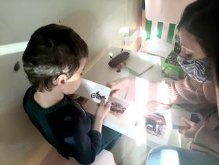 Снимки от работата на специалистите с децата