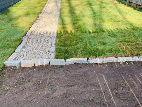 Sod installation with Chilton edging