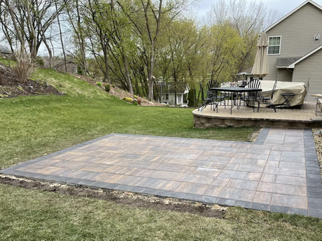Haven color pavers with Reflection color border  patio