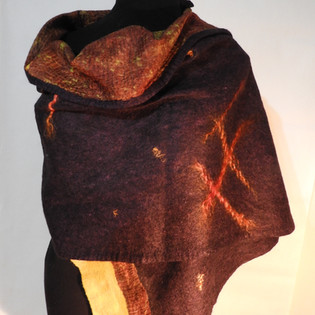 evening shadows shawl reverse side