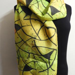 D'apres Klimt Handpainted silk scarf
