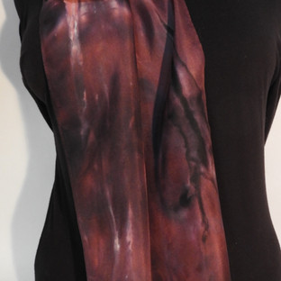Shibori dyed magenta and navy